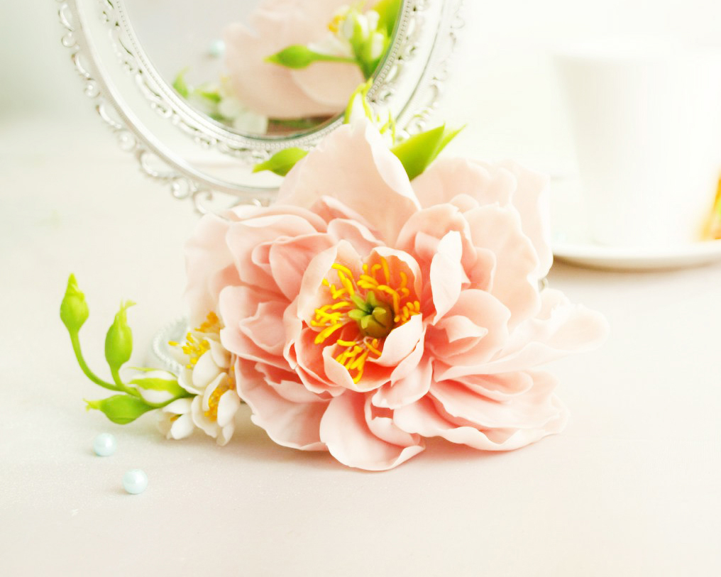 Flower hair accessories handmade with love oriflowers mightylinksfo