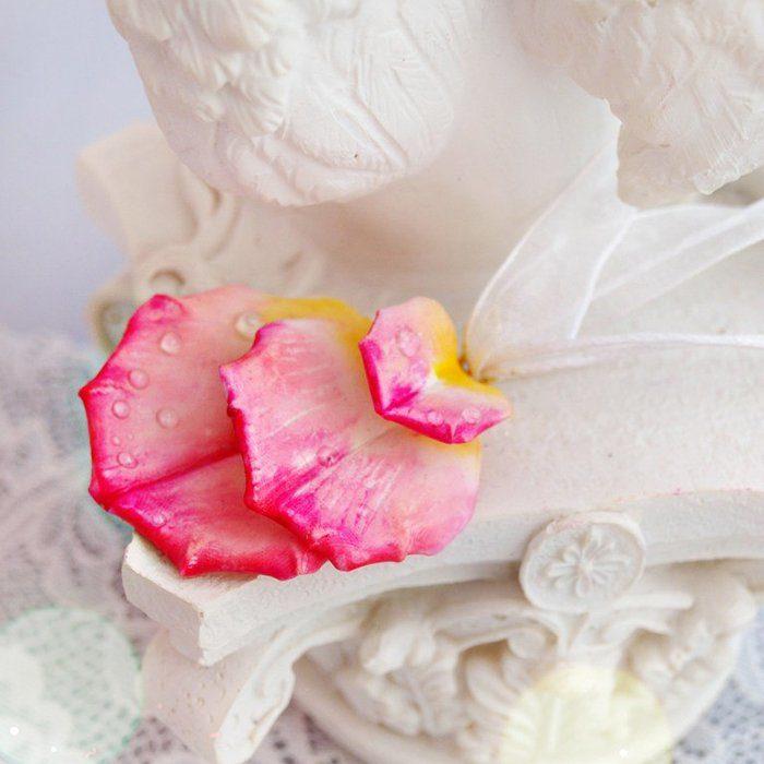 Flower Pendant Necklace, Rose Petal Jewelry | Oriflowers