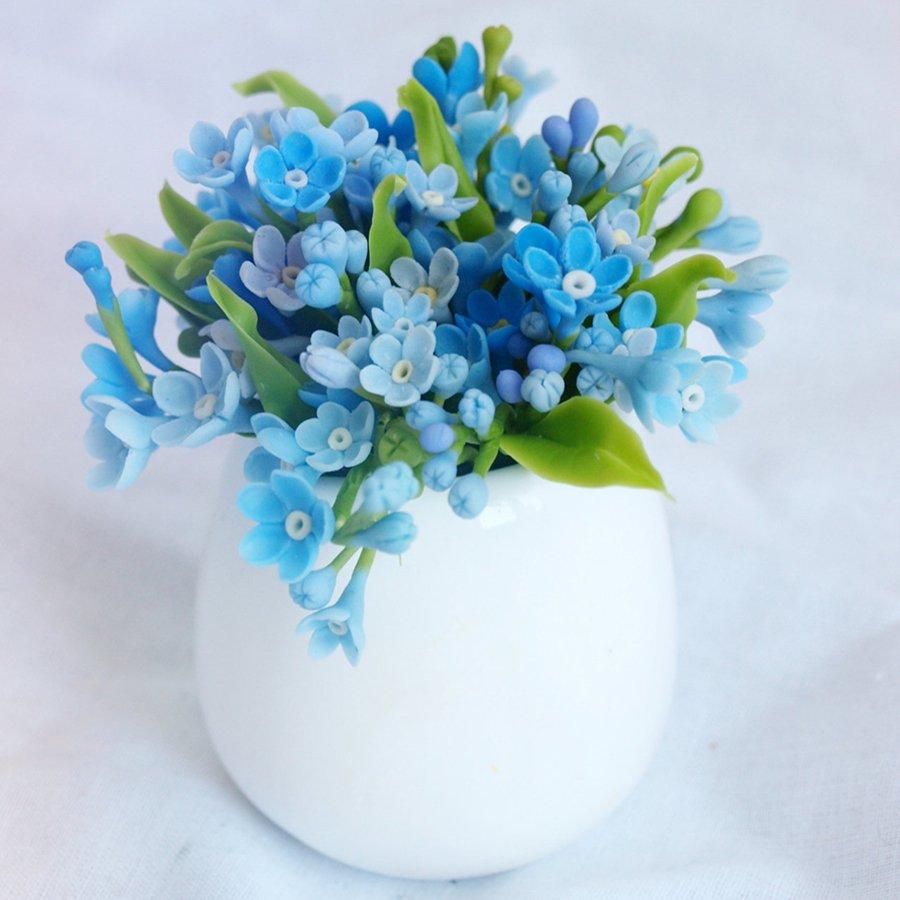 Forget Me Not Flower Arrangement Handmade With Love Oriflowers