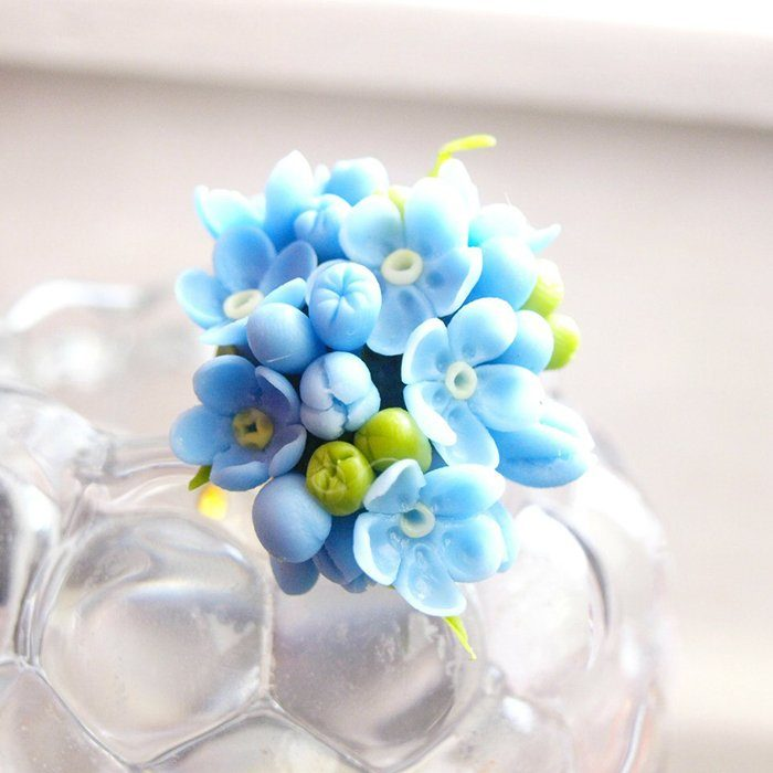 Forget Me Not Ring Blue Jewelry | Oriflowers