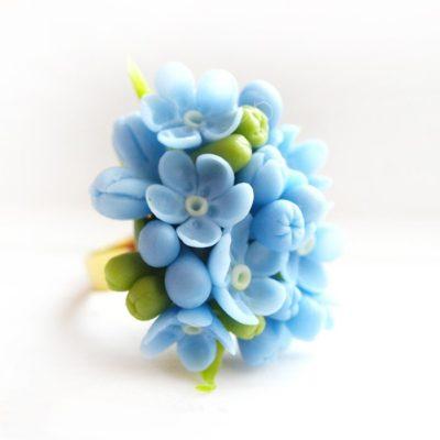Artificial forget me not flowers handmade with love oriflowers forget me not ring handmade blue jewelry oriflowers mightylinksfo