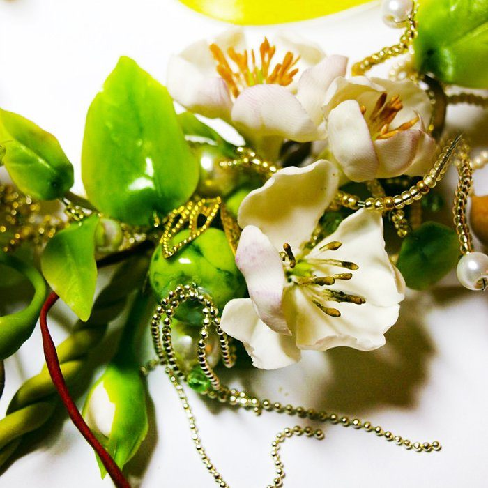 Green Necklace, Fashion Spring Jewelry | Oriflowers