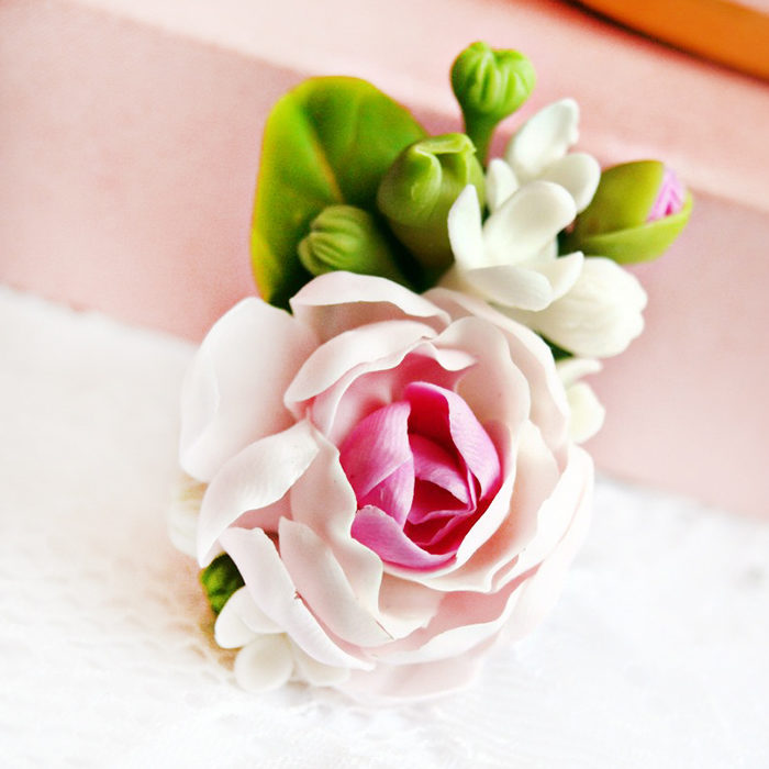 Handmade Peony Floral Ring | Oriflowers
