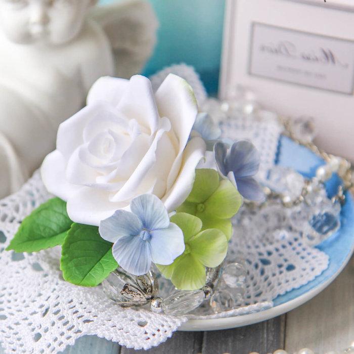Hydrangea And Rose Boutonniere 4   Oriflowers
