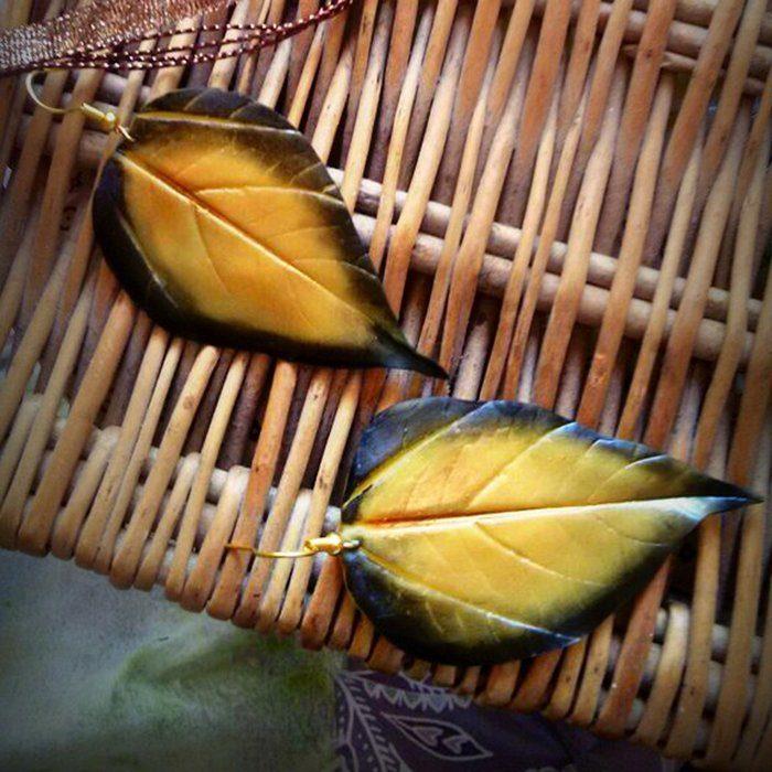 Leaf Earrings - Artificial Handmade Leaf Jewelry | Oriflowers