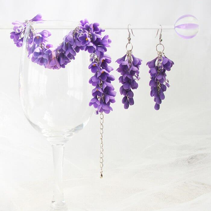 Lilac Jewelry Set | Oriflowers