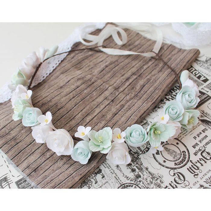 Mint Flower Crown 1 | Oriflowers