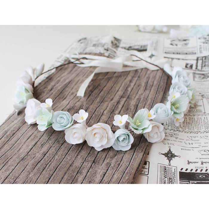 Mint Flower Crown | Oriflowers