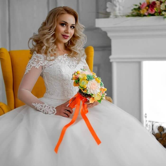 Orange Wedding Bouquet 1 | Oriflowers