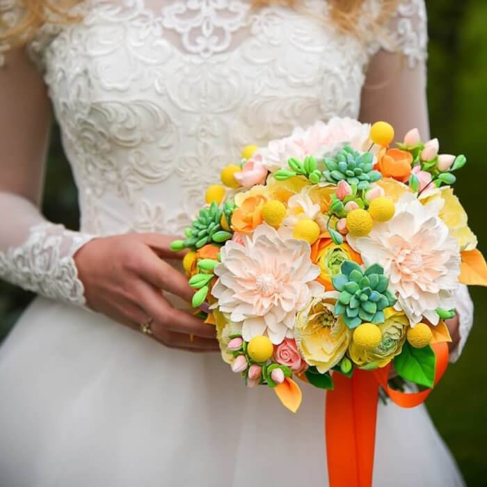 Orange Wedding Bouquet | Oriflowers