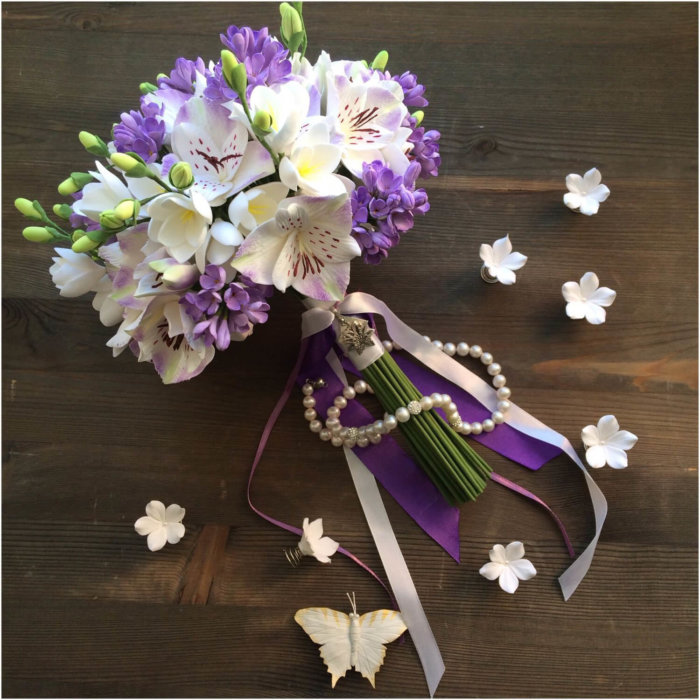Orchid And Lilac Wedding Bouquet 1 | Oriflowers
