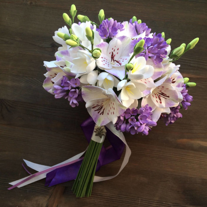 Orchid And Lilac Wedding Bouquet 2 | Oriflowers