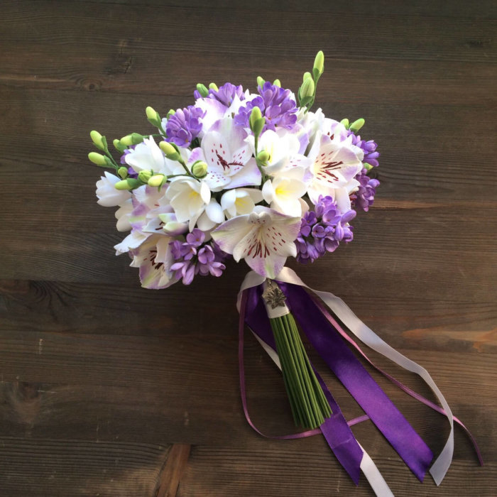 Orchid And Lilac Wedding Bouquet 3 | Oriflowers