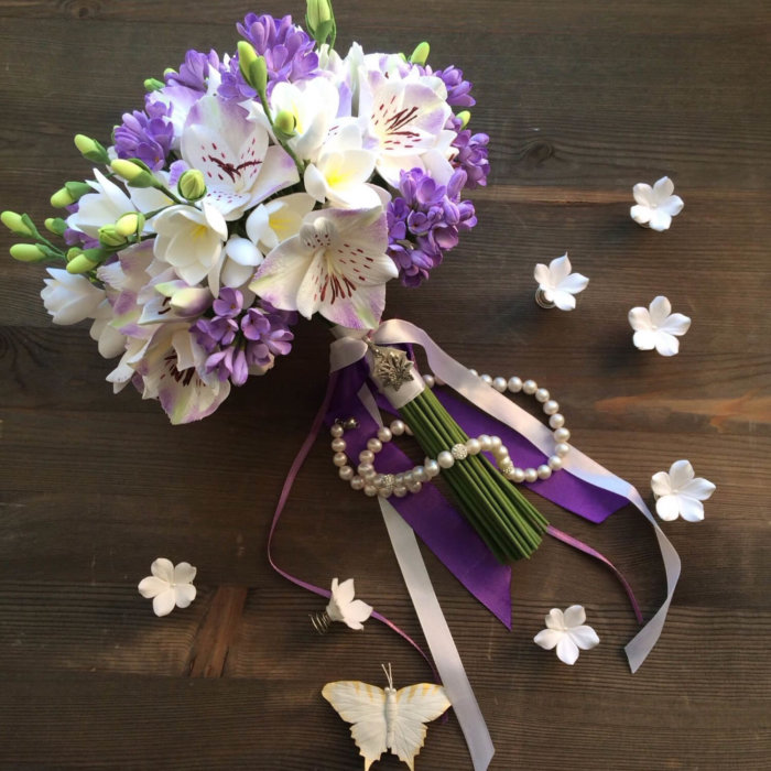 Orchid And Lilac Wedding Bouquet | Oriflowers