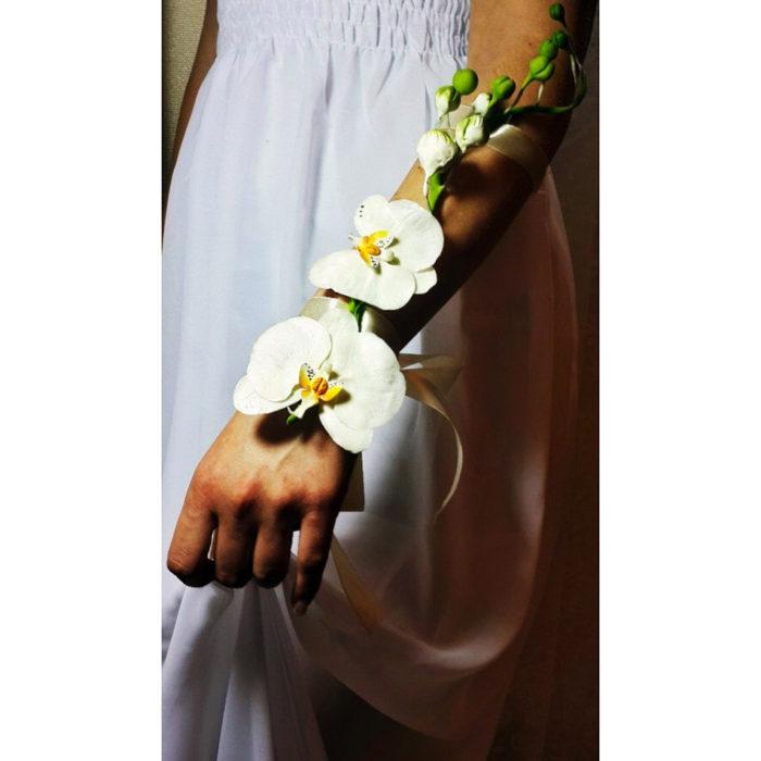 Orchid wedding bracelet | Oriflowers
