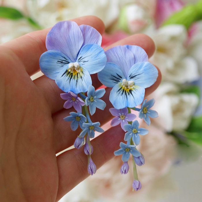 Pansy Earrings | Oriflowers