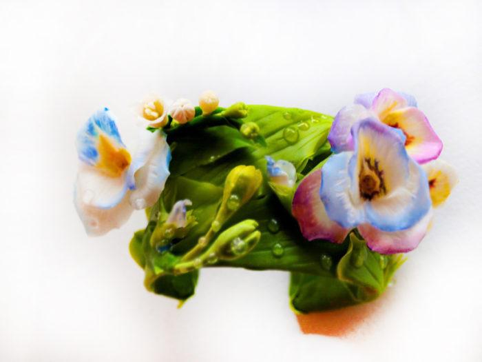 Pansy Flower Bracelet 3 | Oriflowers