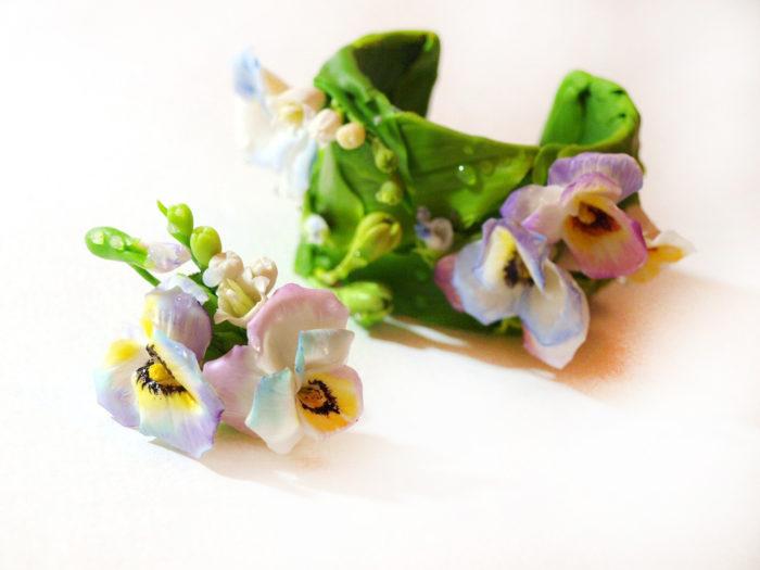 Pansy Flower Bracelet 4 | Oriflowers
