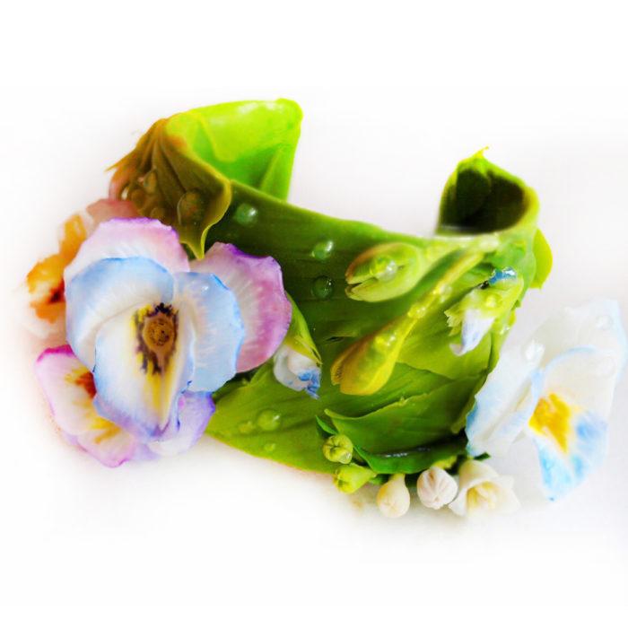 Pansy Flower Bracelet | Oriflowers
