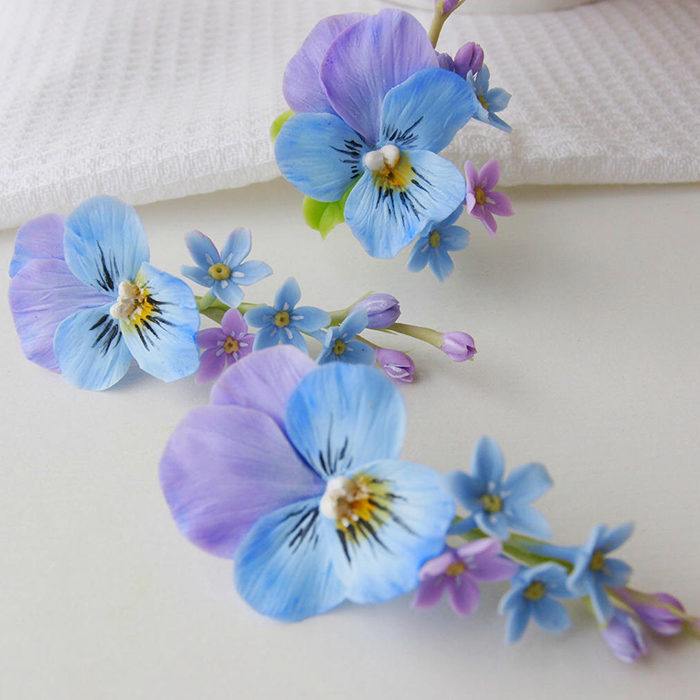 Pansy Earrings 2 | Oriflowers