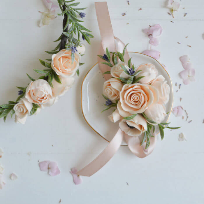 Peach Rose Corsage 4 | Oriflowers