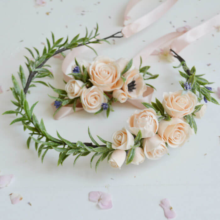 Peach Rose Corsage 5 | Oriflowers