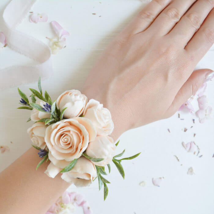 Peach Rose Corsage | Oriflowers