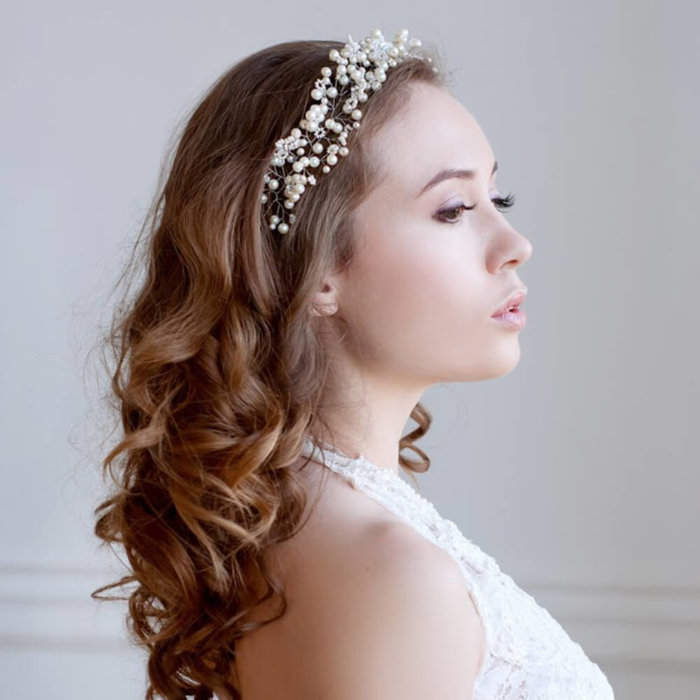 Pearl Bridal Hair Vine 1 | Oriflowers