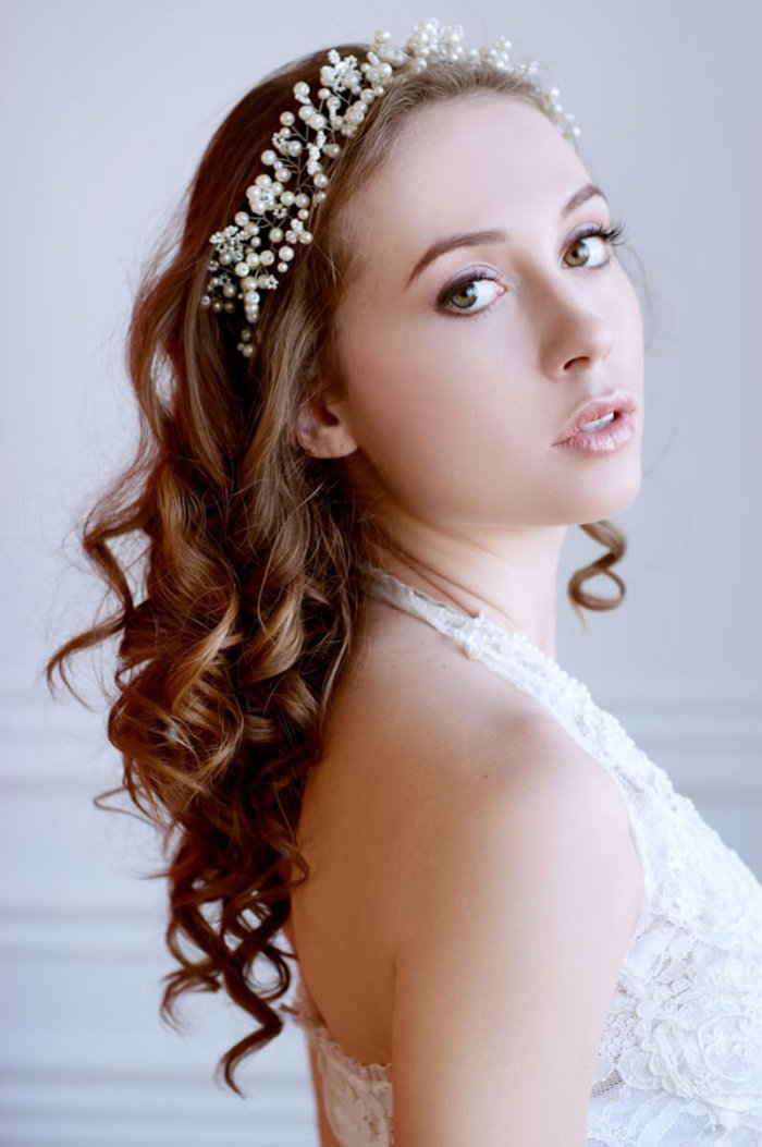 Pearl Bridal Hair Vine 2 | Oriflowers