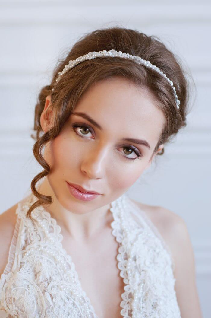 Pearl Bridal Headband 4 | Oriflowers