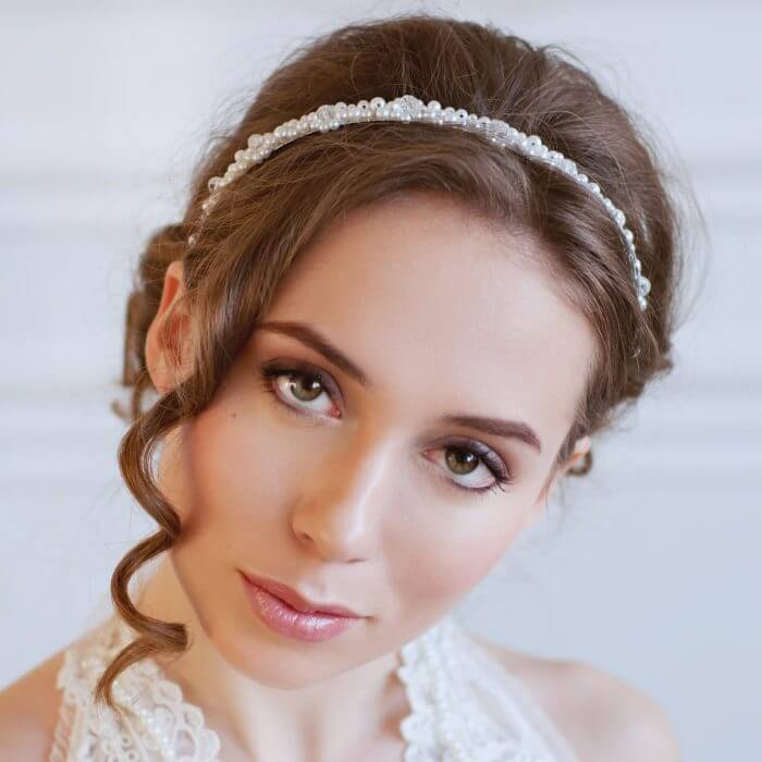 Pearl Bridal Headband | Oriflowers