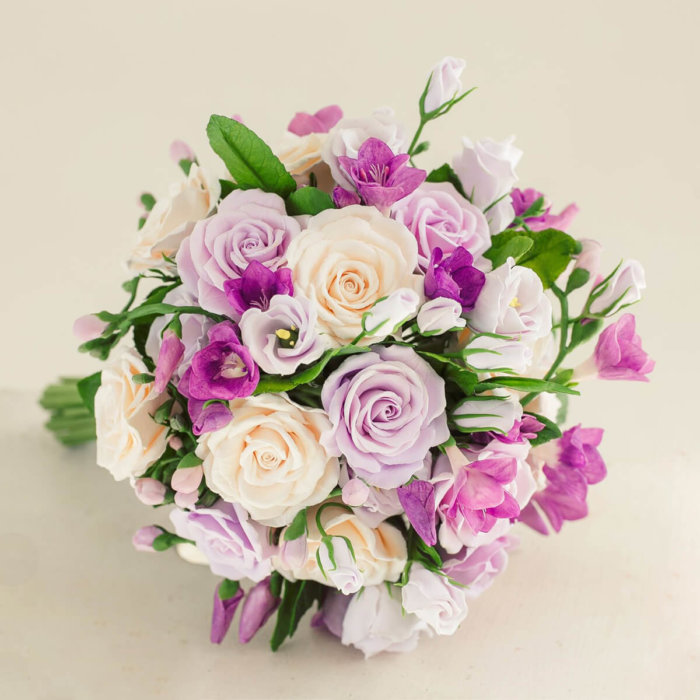 Pink And White Rose Wedding Bouquet 1 | Oriflowers