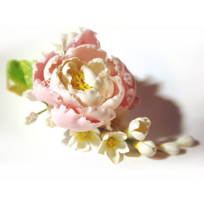Flower hair clips handmade with love oriflowers pink flower hair clip oriflowers mightylinksfo Choice Image