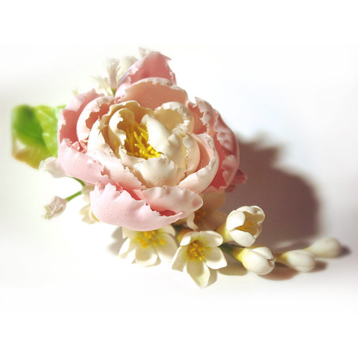 Pink Flower Hair Clip | Oriflowers