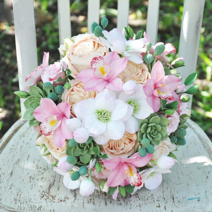 Pink Orchid Wedding Bouquet 2 | Oriflowers