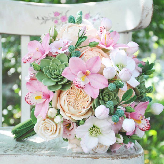 Pink Orchid Wedding Bouquet | Oriflowers