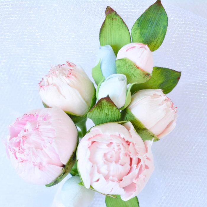 Pink Peony Boutonniere 2 | Oriflowers