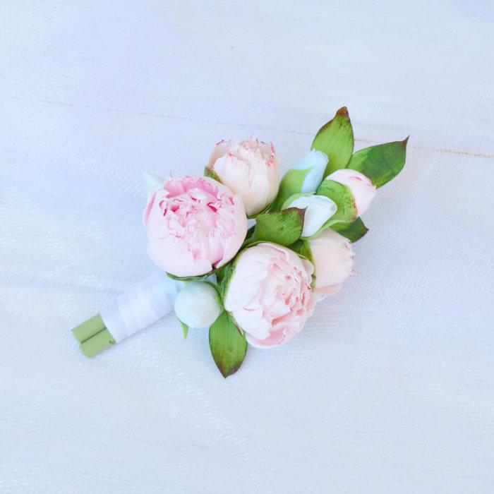 Pink Peony Boutonniere | Oriflowers