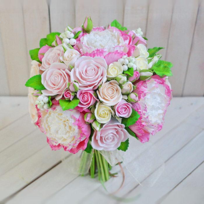 Pink Peony Bridal Bouquet 1 | Oriflowers