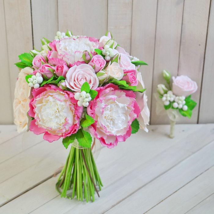Pink Peony Bridal Bouquet 2 | Oriflowers