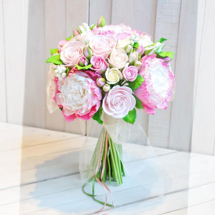 Pink Peony Bridal Bouquet | Oriflowers