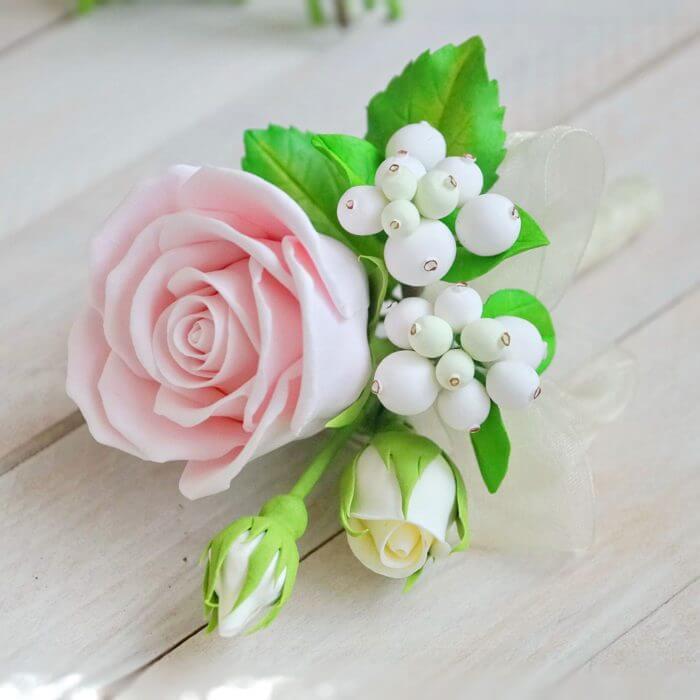 Pink Rose Boutonniere 2 | Oriflowers