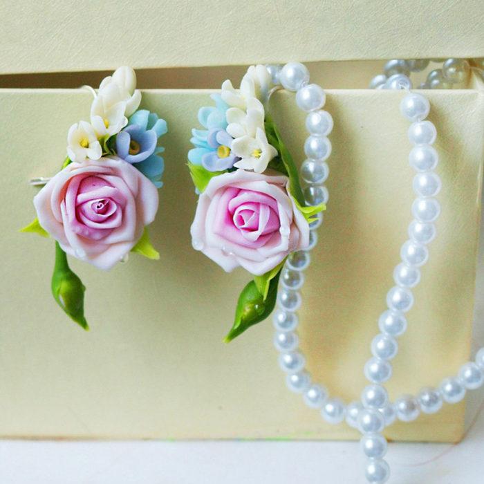 Pink Rose Jewelry Set 1 | Oriflowers