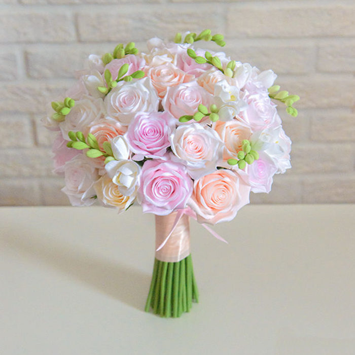 Pink Rose Wedding Bouquet 1 | Oriflowers