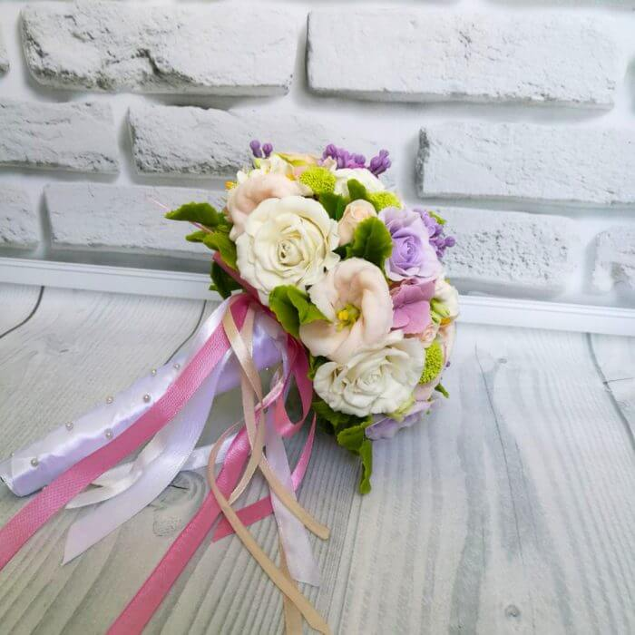 Purple And White Bridal Bouquet 2 | Oriflowers