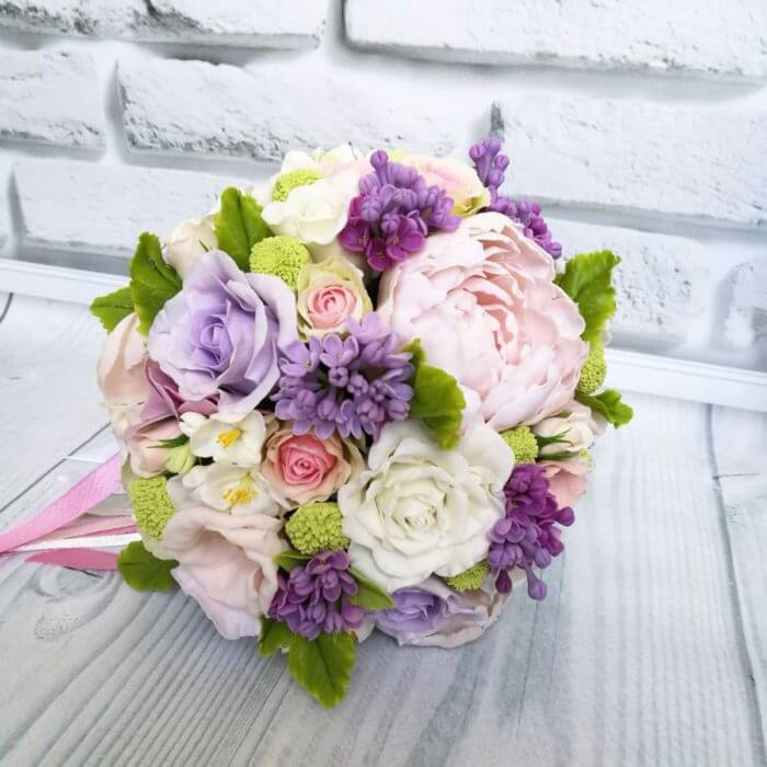 Purple And White Bridal Bouquet 3 | Oriflowers