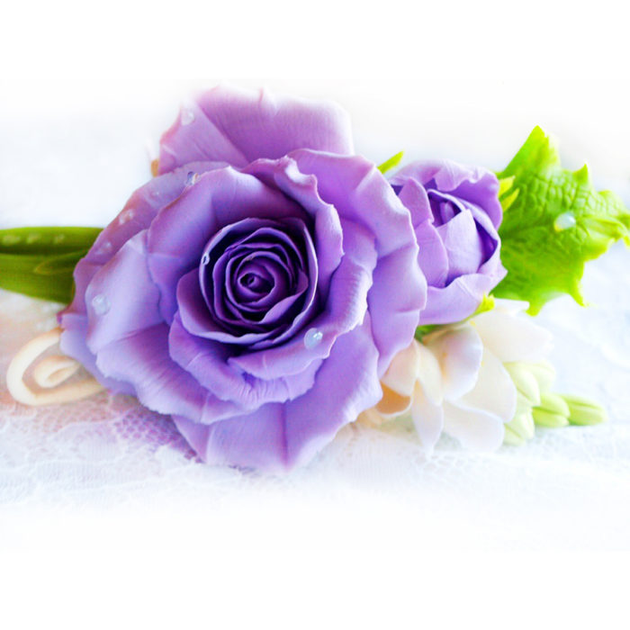 Purple Hair Clip | Oriflowers