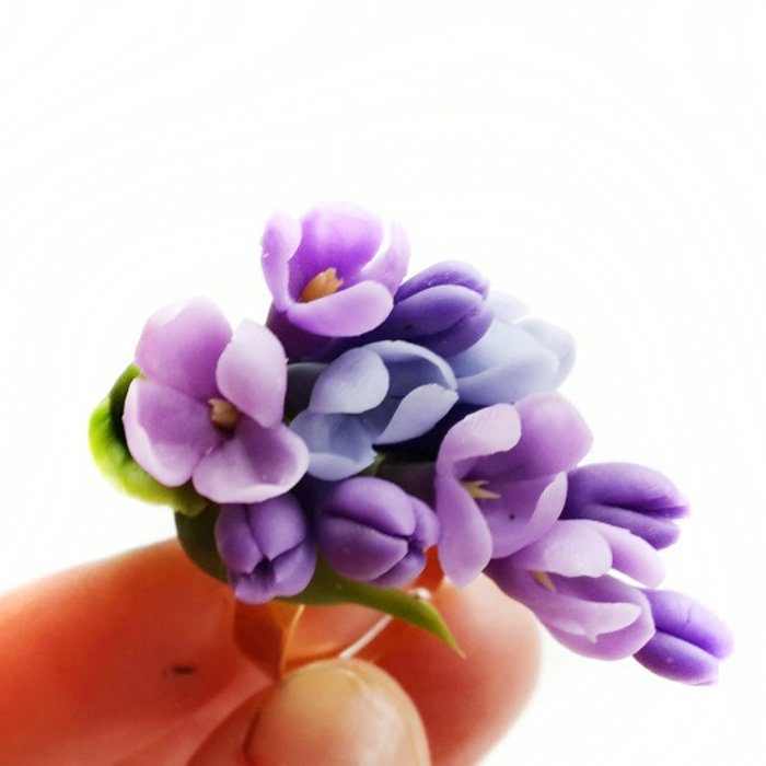 Purple Ring, Lilac Blossom Jewelry | Oriflowers