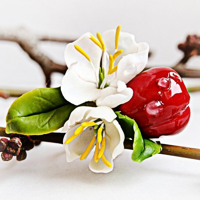 Ring with Cherry Berries - Cherry Blossom Jewelry | Oriflowers