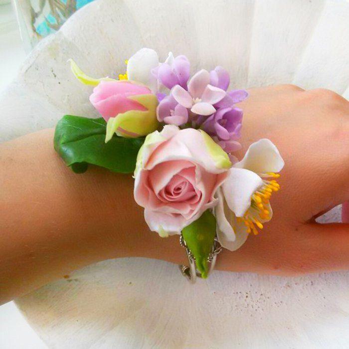 Rose Flower Bracelet Handmade Flower Jewelry | Oriflowers